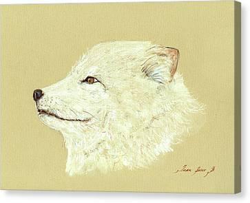 Polar Fox Portrait Canvas Print