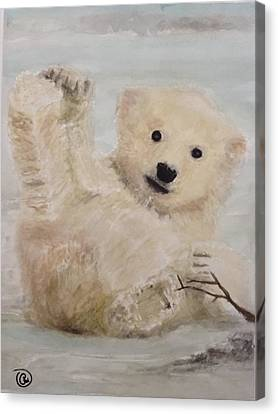 Polar Slide Canvas Print by Annie Poitras