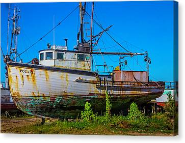 Polaris In Dry Dock Canvas Print by Garry Gay