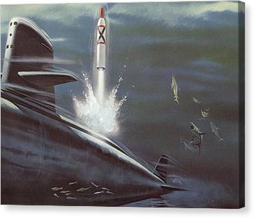 Polaris Surface To Surface Rocket Canvas Print by American School