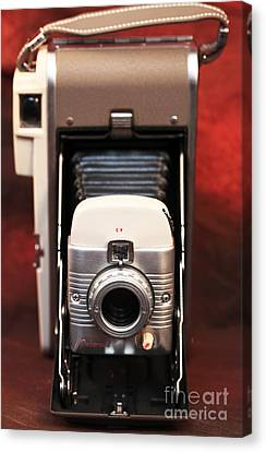 Polaroid Bellows Camera Canvas Print by John Rizzuto