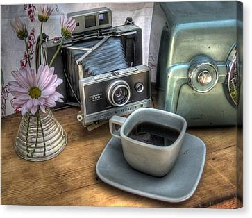 Camera Canvas Print - Polaroid Perceptions by Jane Linders