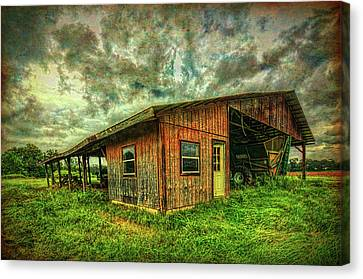 Canvas Print featuring the photograph Pole Barn by Lewis Mann