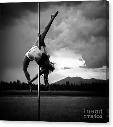 Pole Dance 1 Canvas Print by Scott Sawyer