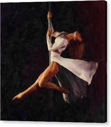 Pole Dance 2 Canvas Print