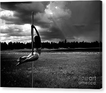 Pole Dance Storm 1 Canvas Print