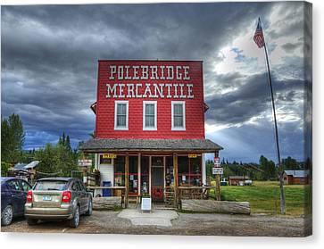 Polebridge Mercantile Canvas Print by Darlene Bushue