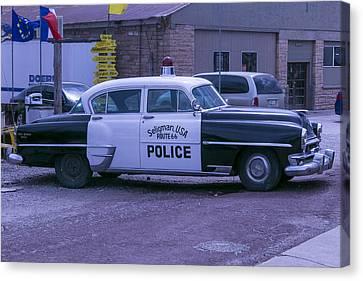 Police Car Seligman Azorina Canvas Print