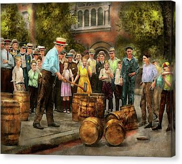 Police - Prohibition - A Smashing Good Time 1921 Canvas Print by Mike Savad