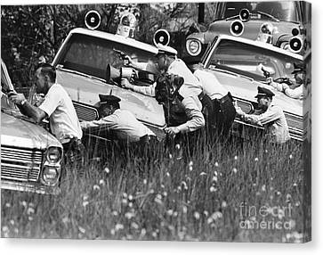 Police Reinforcements Canvas Print