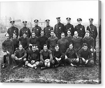 Police Team To Play Prisoners Canvas Print by Underwood Archives