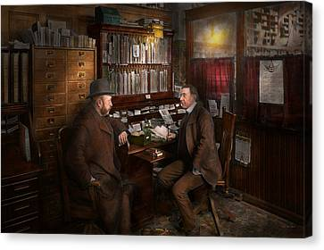Police - The Private Eye - 1902  Canvas Print by Mike Savad