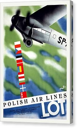 Polish Air Lines Canvas Print by David Wagner