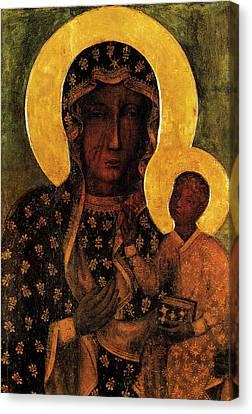 Black Madonna Of Czestochowa, Our Lady Of Czestochowa  Canvas Print by Magdalena Walulik