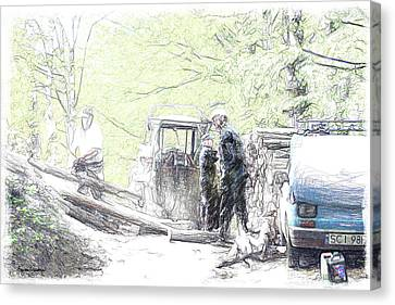 Polish Woodworkers Canvas Print by Arie Van Garderen