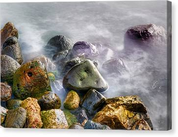 Polished Rocks Canvas Print