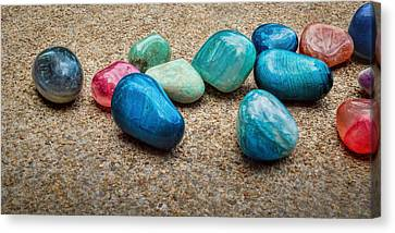 Polished Stones - Photography Canvas Print by Ann Powell