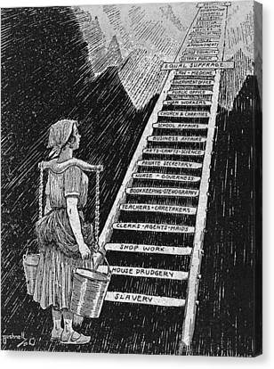 Political Cartoon Entitled, The Sky Is Canvas Print by Everett