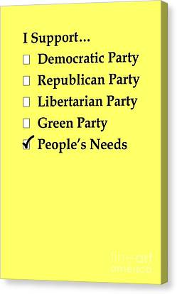 Political Support Canvas Print