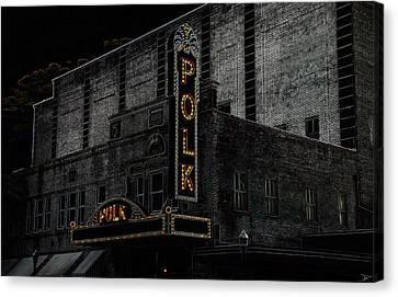 Polk Movie House Canvas Print by David Lee Thompson