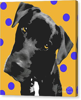 Polka Dot Canvas Print by Amanda Barcon