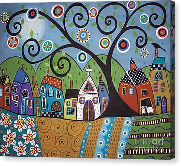 Art Sale Canvas Print - Polkadot Church by Karla Gerard