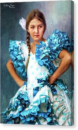 Canvas Print featuring the photograph Polkadot Princess by Wallaroo Images