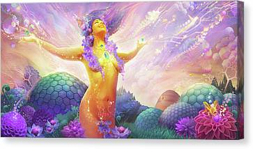 Flowering Canvas Print - Pollenectar by George Atherton