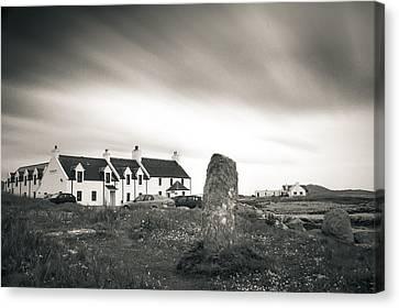 Pollochar Inn And Standing Stone Canvas Print