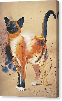 Pollock's Cat Canvas Print by Eve Riser Roberts
