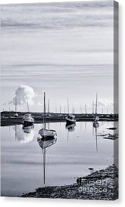 Water Vessels Canvas Print - Pollywiggle Brancaster Staithe Norfolk Uk by John Edwards