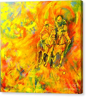 Poloplayer Canvas Print by Dagmar Helbig