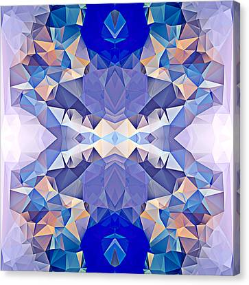 Polygon Mosaic Design Super 16 Canvas Print by Elaine Plesser