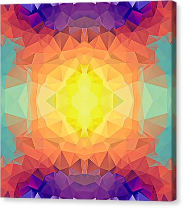 Polygon Mosaic Design Super 19 Canvas Print