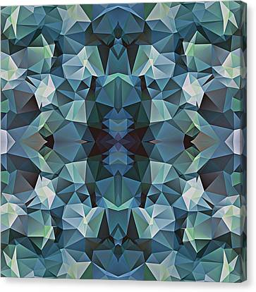 Polygon Mosaic Design Super 5 Canvas Print