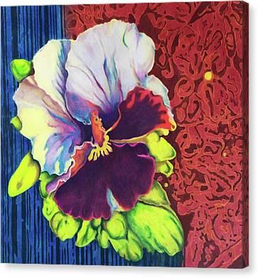 Polynesian Floral Canvas Print