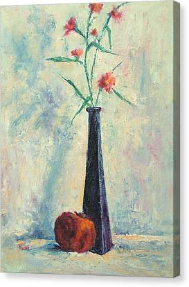 Pomegranate And Black Vase Canvas Print