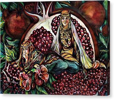 Pomegranate Canvas Print by Anna Duyunova