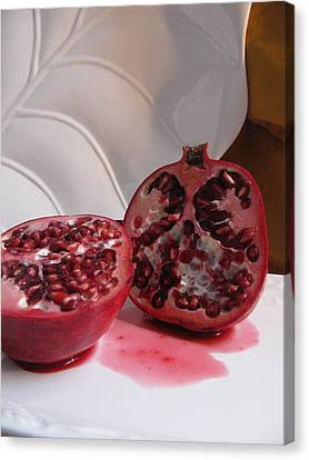 Pomegranate Slice Canvas Print