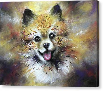 Pomeranian Canvas Print by Patricia Lintner