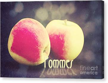 Pommes Canvas Print by Angela Doelling AD DESIGN Photo and PhotoArt