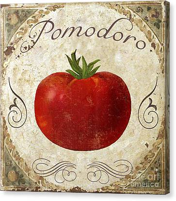 Pomodoro Tomato Italian Kitchen Canvas Print by Mindy Sommers