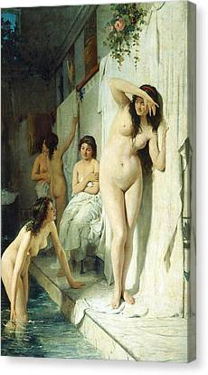 Pompeian Bath Canvas Print by Giuseppe Barbaglia