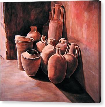 Pompeii - Jars Canvas Print