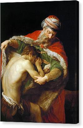 Prodigal Canvas Print - Pompeo Batoni 1708 1787 Return Of The Prodigal Son.jpeg by Anne Pool