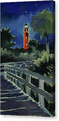 Ponce Inlet Lighthouse Before Dawn 7-5-17 Canvas Print