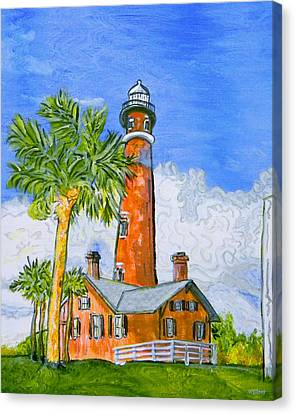 Ponce Lighthouse Canvas Print by W Gilroy