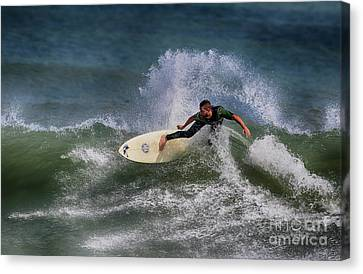 Canvas Print featuring the photograph Ponce Surfer 2017 by Deborah Benoit