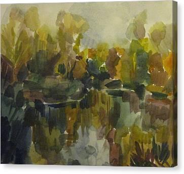Pond Canvas Print by Darya Gavroff
