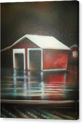 Pond House Canvas Print by Scott Easom